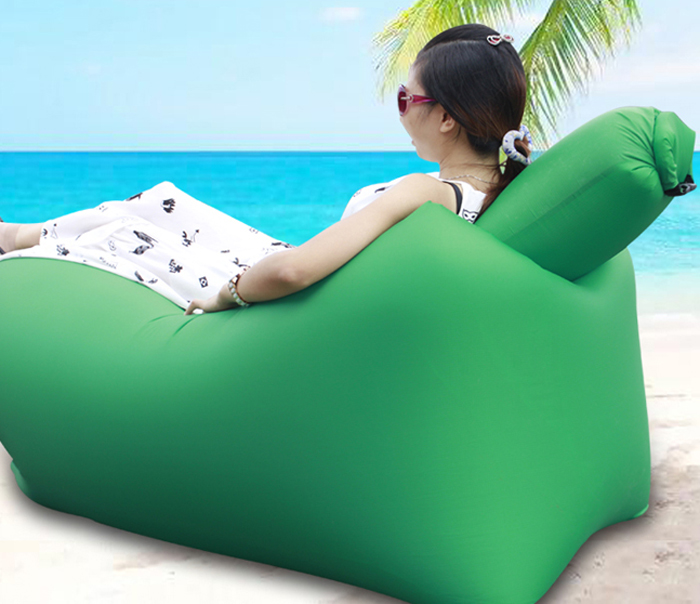 pillow chair. portable inflatable lazy sofa beach chair with pillow for outdoor sports