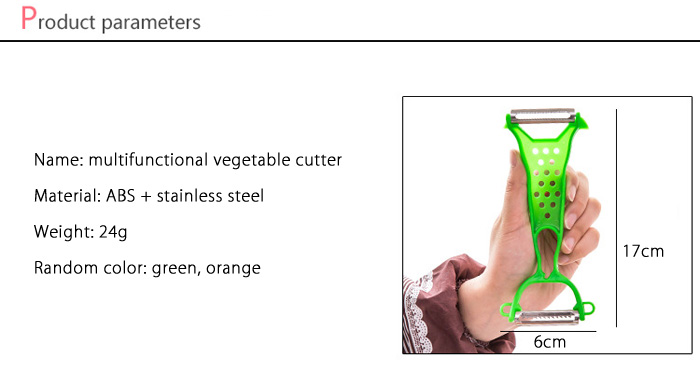 Multifunctional Stainless Steel Vegetable Cutter Kitchen Cooking Tools- Colormix