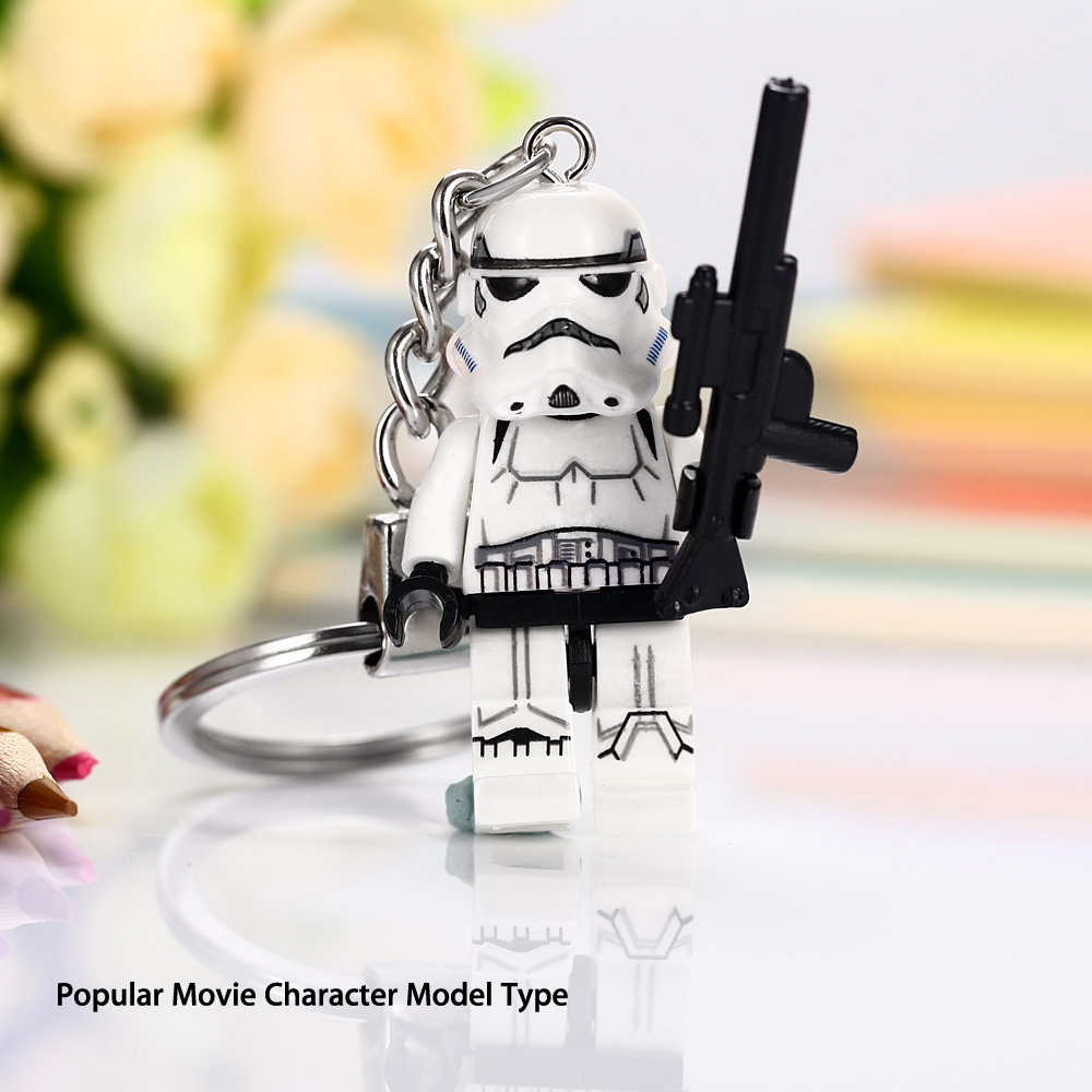 Alloy + Plastic Key Chain Hanging Pendant Warrior Style Keyring Movie Product for Decoration