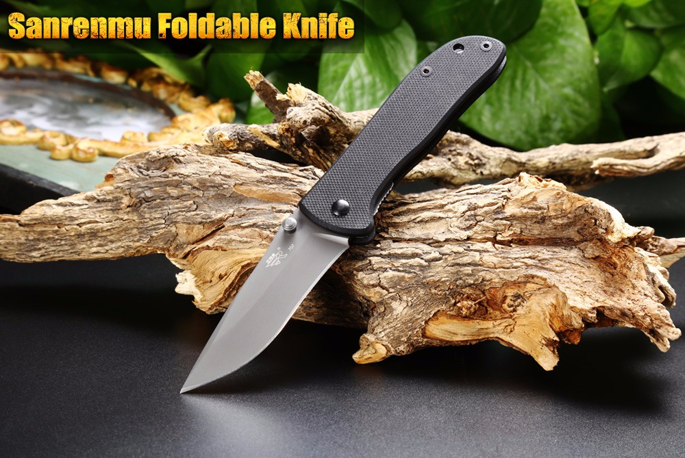 Sanrenmu GB8 - 707 7007 LUP - GH Liner Lock Foldable Knife with G10 Handle