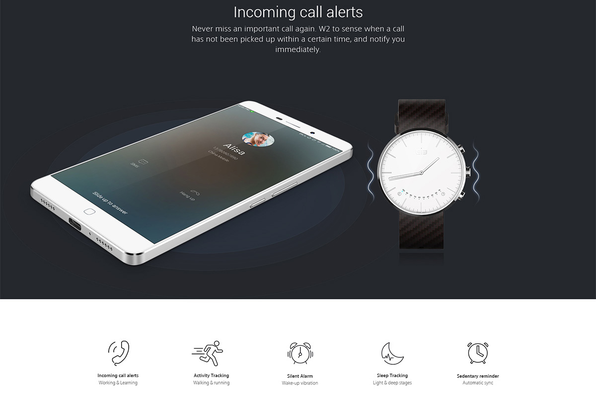 Elephone W2 Smart Bluetooth Watch Classic Smartwatch -$31 ...