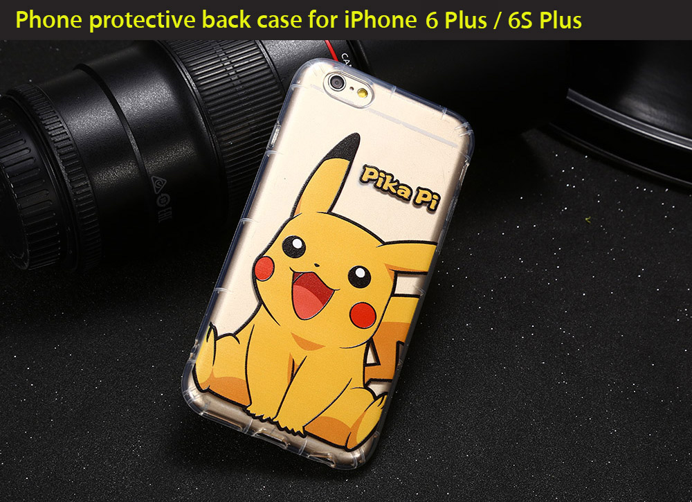 Cartoon Pattern Transparent Style Protective Phone Case for iPhone 6 Plus / 6S Plus Ultra-thin TPU Soft Mobile Shell