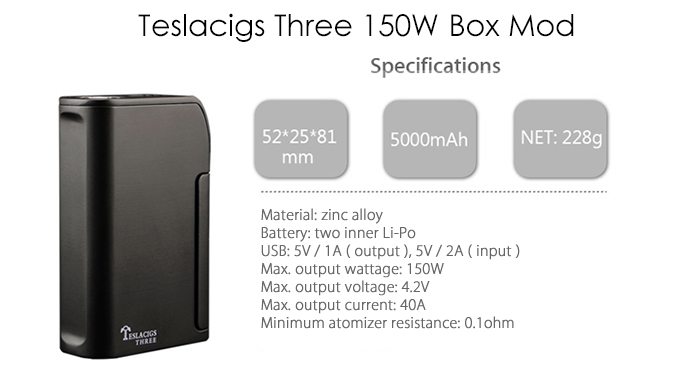 Teslacigs Three 150W Box Mod Originale