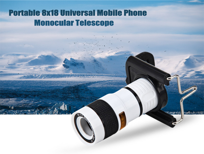 Portable universal mobile phone monocular telescope