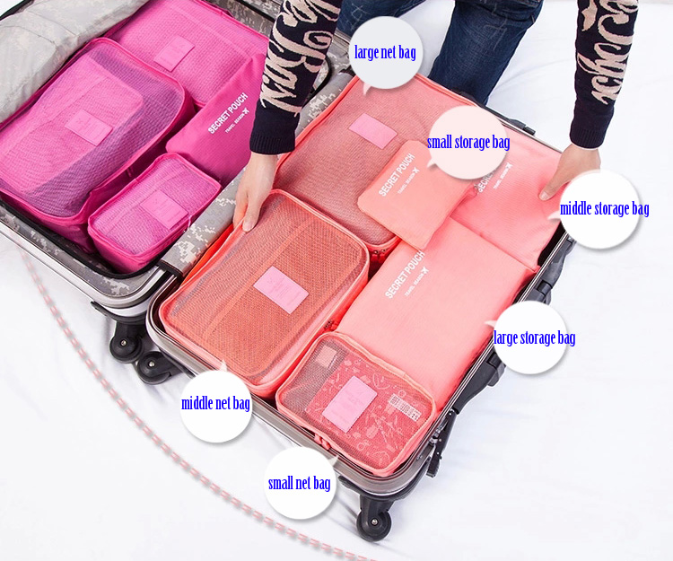 Dixiu 6 in 1 Large Capacity Luggage Bags Journey Organizer for Outdoor  Traveling Home Use- 2ebaab55d5cd6