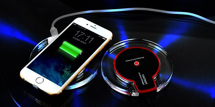 Qi Wireless Charger Transmitter Adapter 5V 1A Output Non-slip Pad
