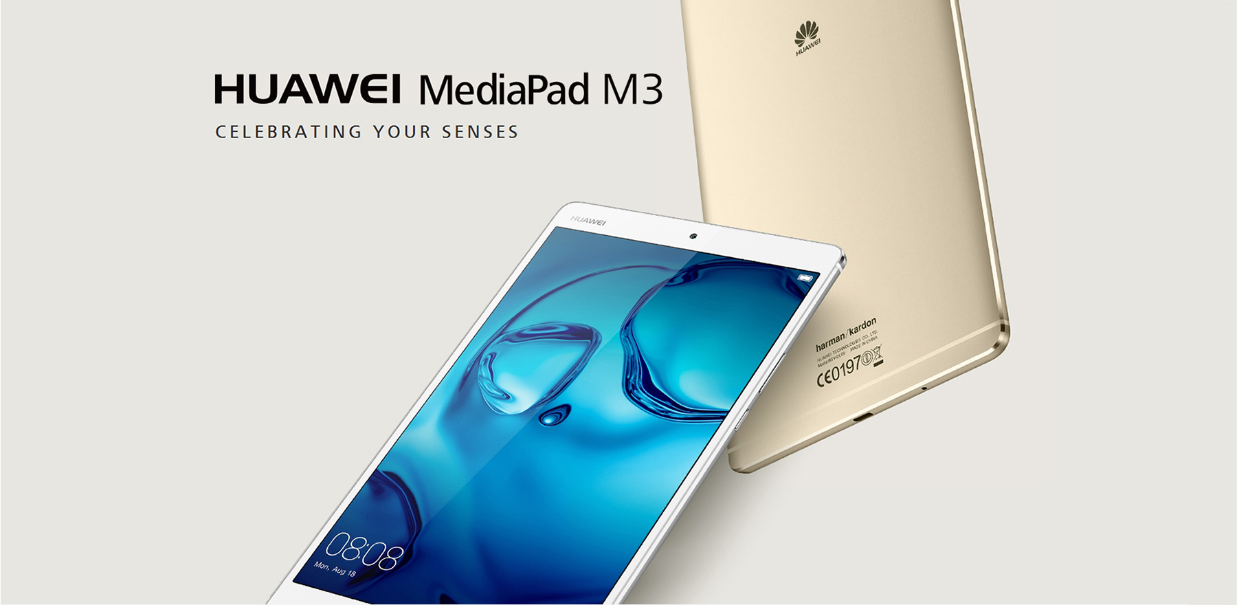 Huawei MediaPad M3 8.4 inch Tablet PC Android 6.0 Kirin 950 Octa Core 1.8GHz 4GB RAM 32GB ROM Fingerprint Scanner Ultra 2K Crystal-clear Display 8.0MP Cameras Dual Speakers GPS