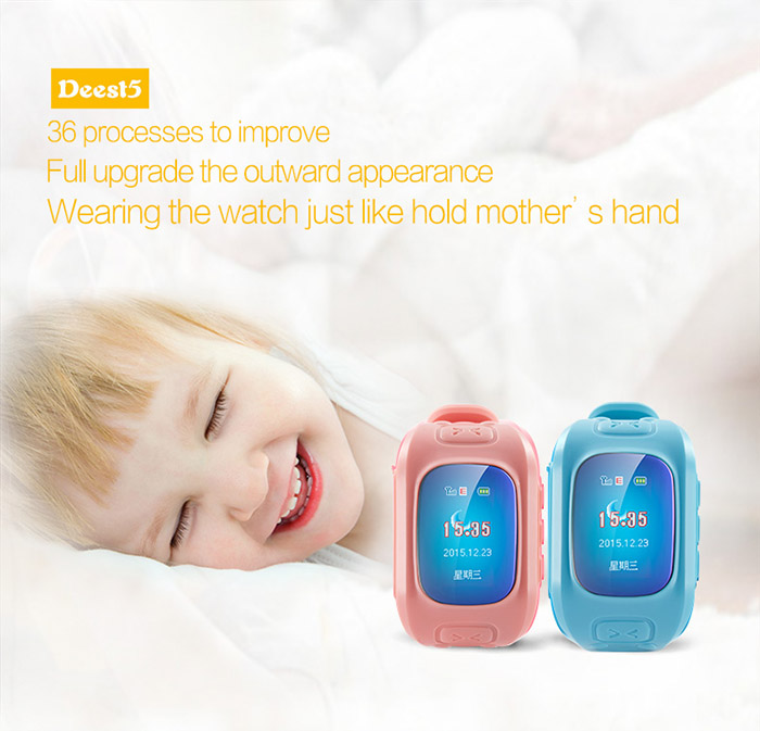 Deest D5 Kid Tracker Smartwatch Phone MTK6261 SOS GPS Voice Monitor Sound Recorder Pedometer Alarm