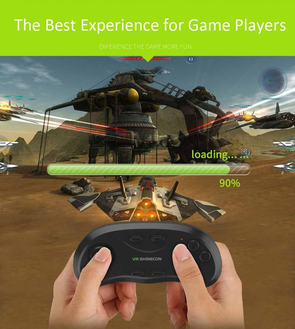 VR SHINECON Universal Multi-function Bluetooth 3.0 Wireless Game Pad Remote Controller / Shutter / Mouse for Android iOS Windows