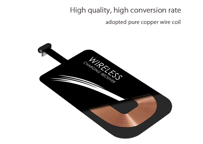 Qi Type-C Wireless Charger Receiver Patch Acceptor