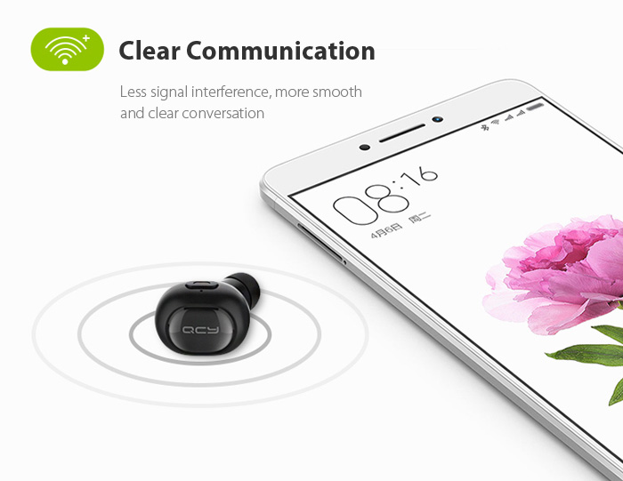 QCY Q26 Super Mini Wireless Bluetooth 4.1 Music Headset Hands-free Calls
