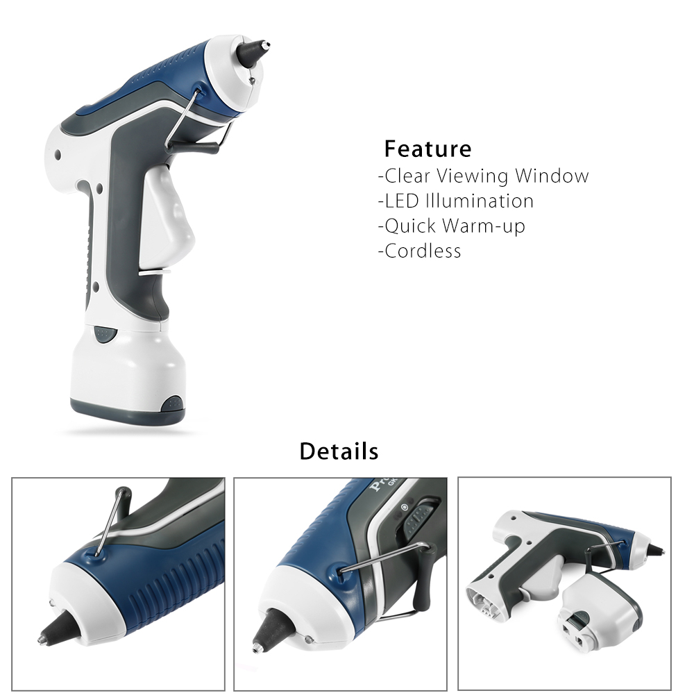 Proskit GK - 368 Battery Operated LED Glue Gun for DIY Project- Colormix