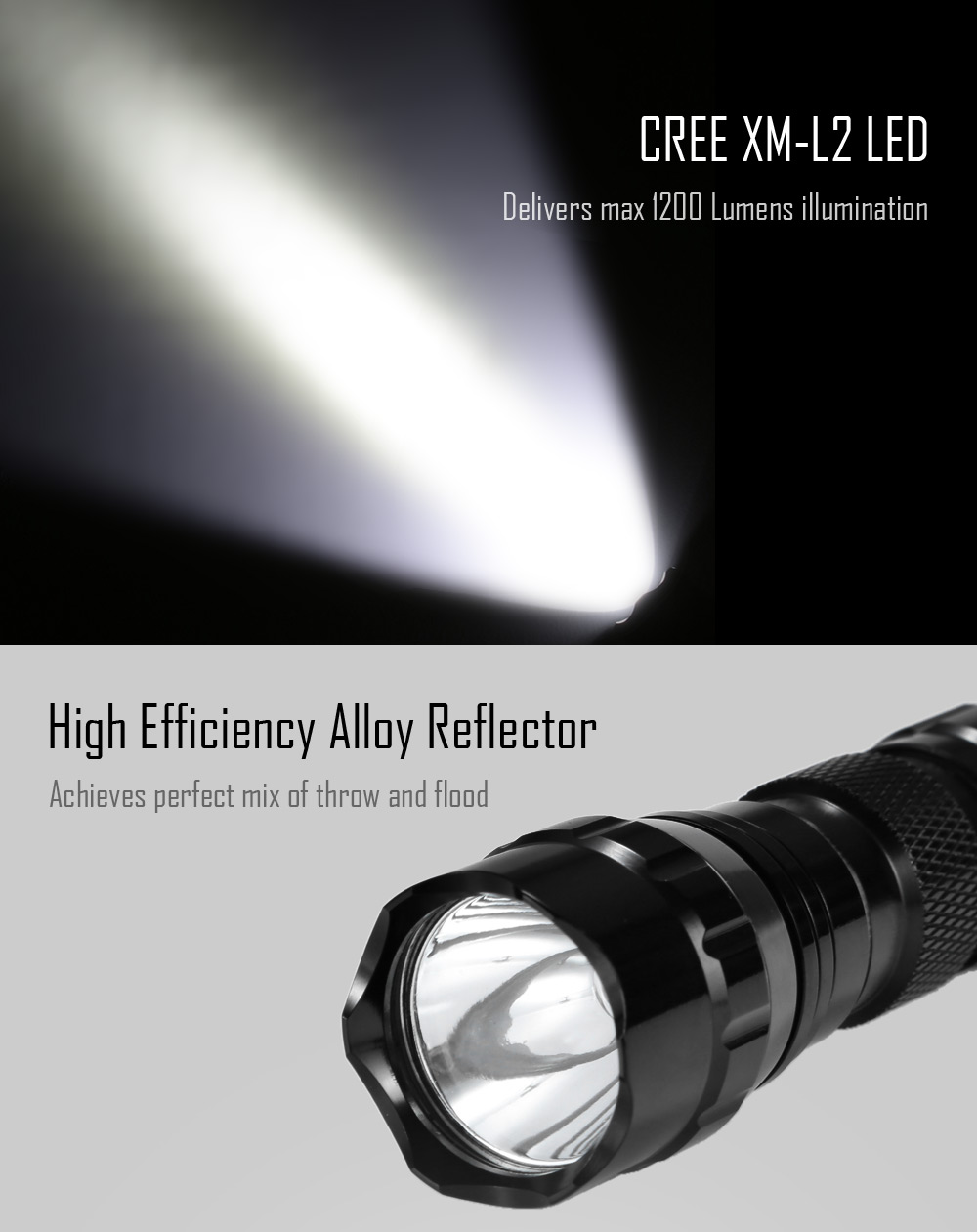 UltraFire WF - 501A CREE XM - L2 1200LM Compact LED Flashlight