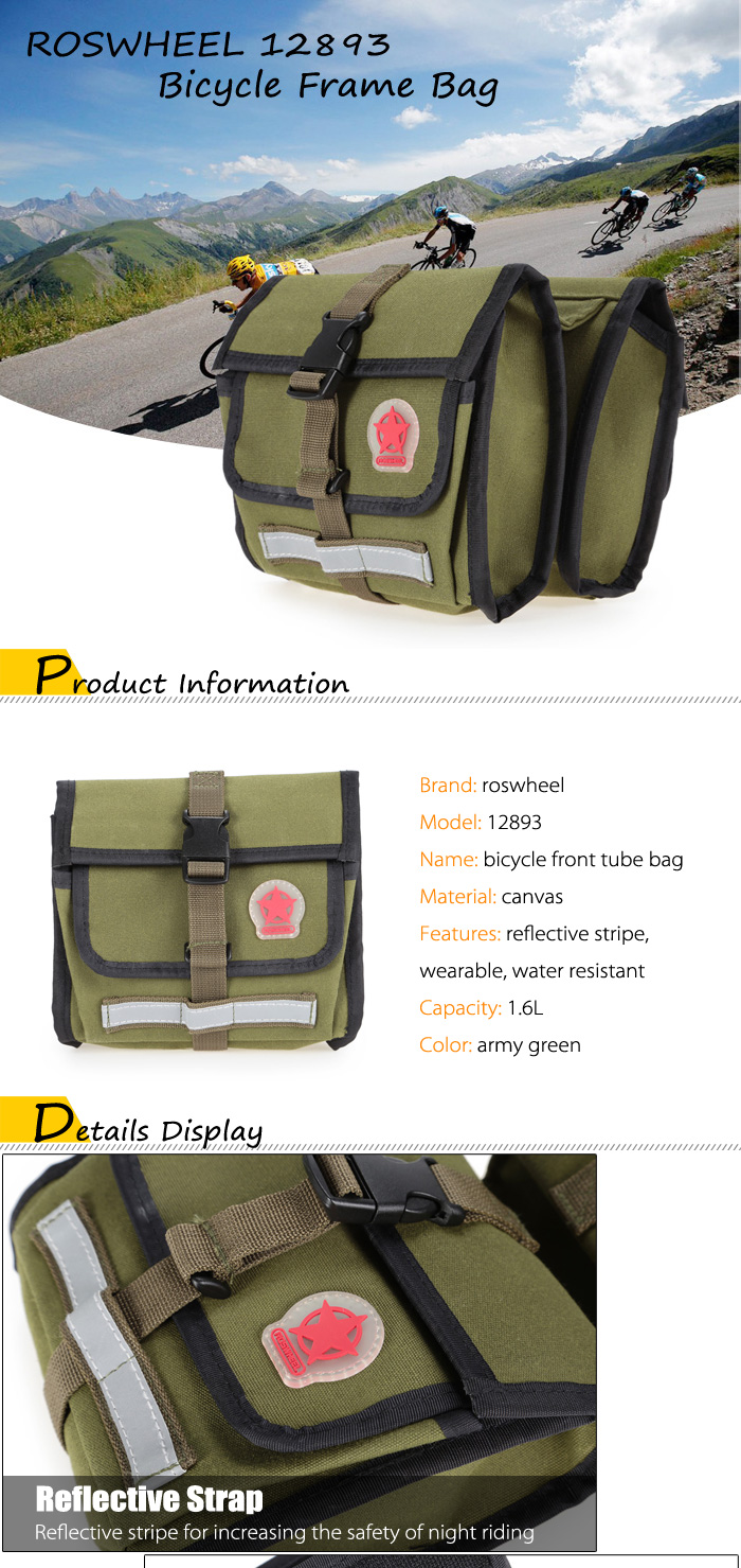 Roswheel 12893 Bike Frame Bag 2010 Free Shipping Rockbros As 017 Mtb Triangle Pouch Waterproof 8l Package Dimension 1700 X 600 Cm 669 236 Inches Contents 1 16l Bicycle Front Tube
