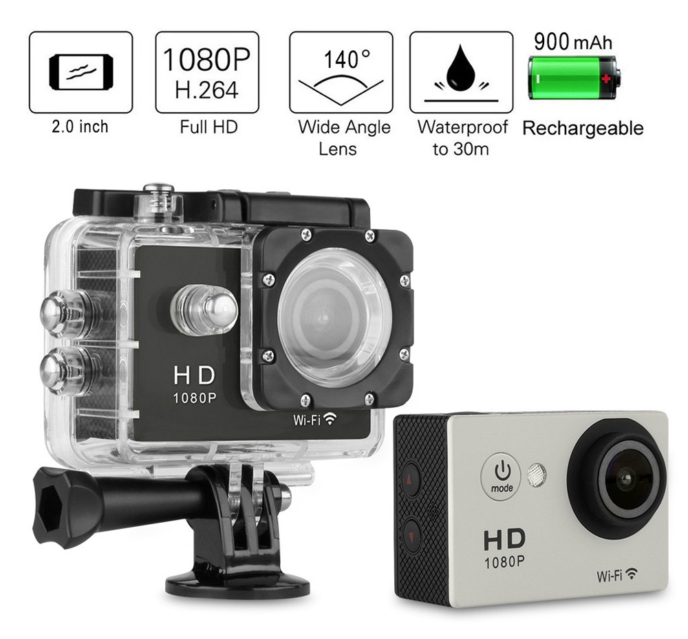 y8 p 2 0 inch wifi 1080p full hd action camera camcorder. Black Bedroom Furniture Sets. Home Design Ideas