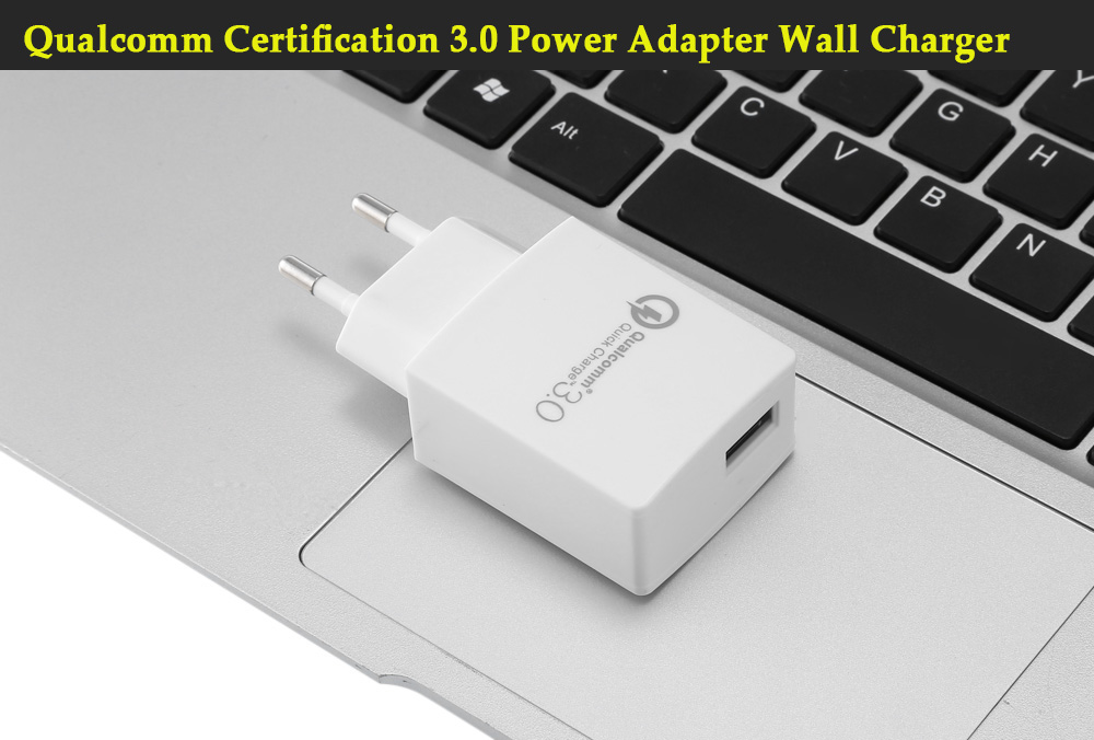 Qualcomm Certification EU Standard Plug 3.0 Quick Charge Power Charger Adapter