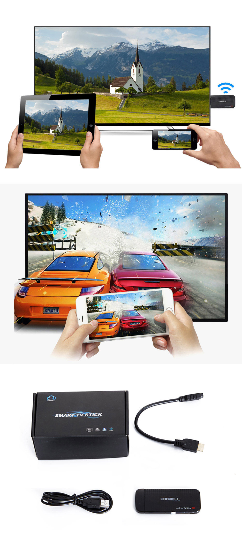 Coowell V5 Android 6 0 Streaming Stick TV Box