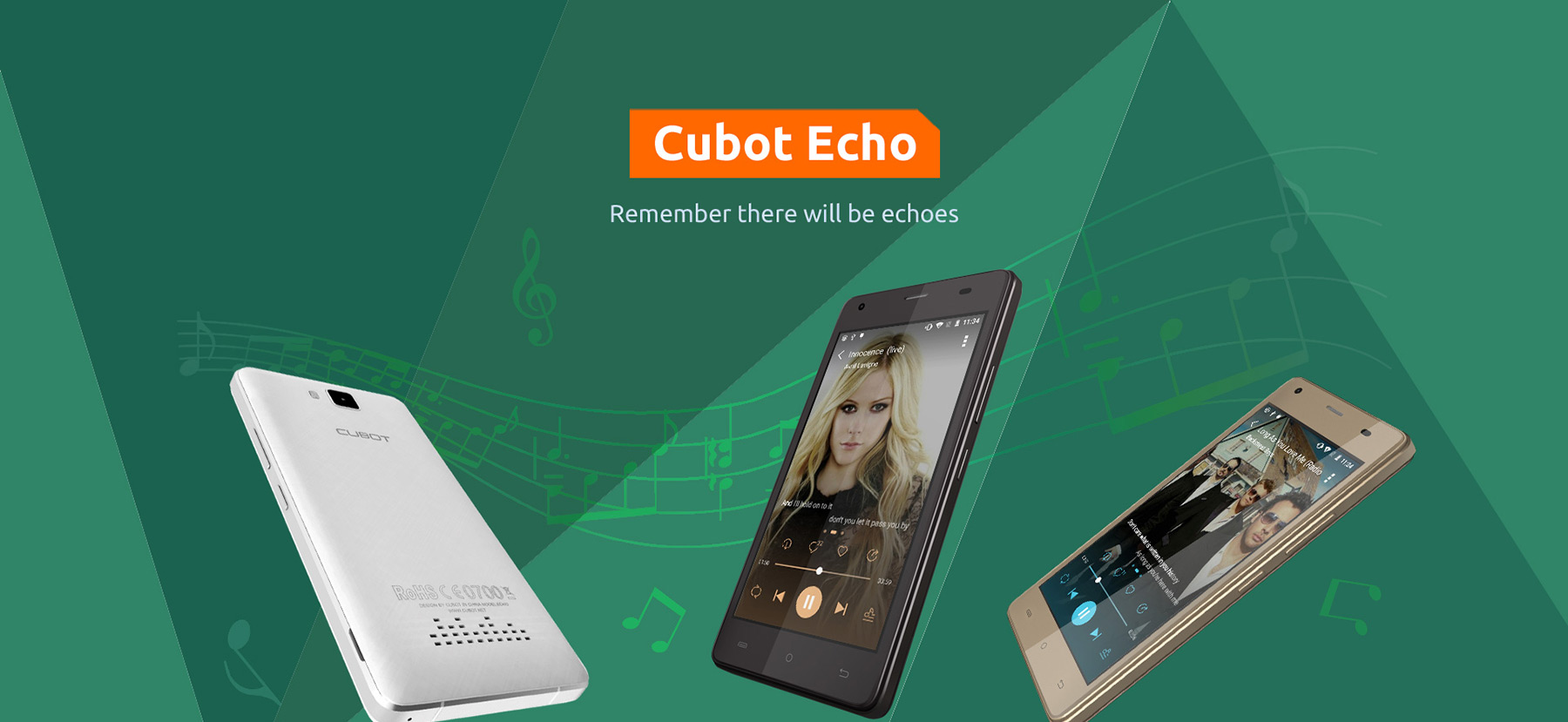 CUBOT Echo Android 6.0 5.0 inch 3G Smartphone MTK6580 Quad Core 1.3GHz 2GB RAM 16GB ROM 13.0MP Rear Camera OTG