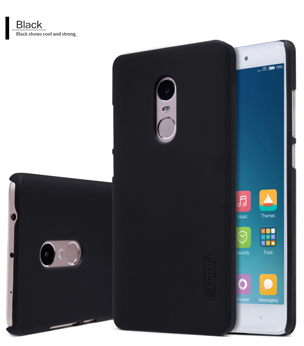 Nillkin Frosted Style PC Hard Protective Cover Case with Screen Film for Xiaomi Redmi Note 4