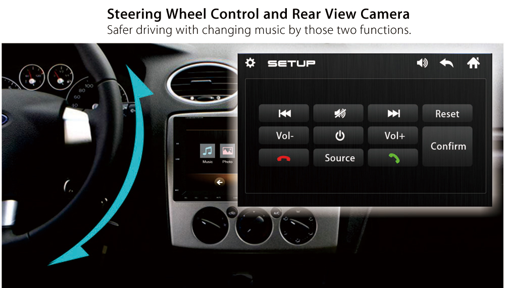 Ezonetronics RM - CW 9301 7 inch Touch-screen Bluetooth Car MP3 MP4 MP5 Player Support Steering Wheel Control