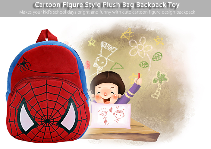 Cartoon Figure Style Plush Bag Backpack Toy Birthday Christmas Gift