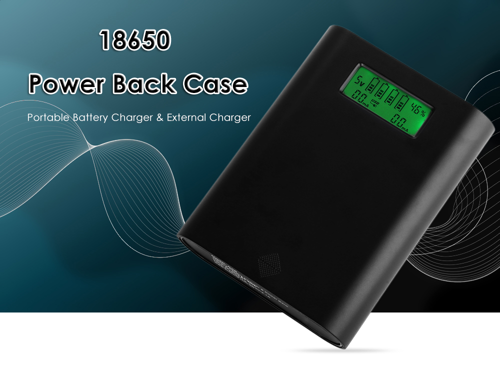 Soshine E3S 18650 Li-ion Battery Charger Power Bank Case LCD Display