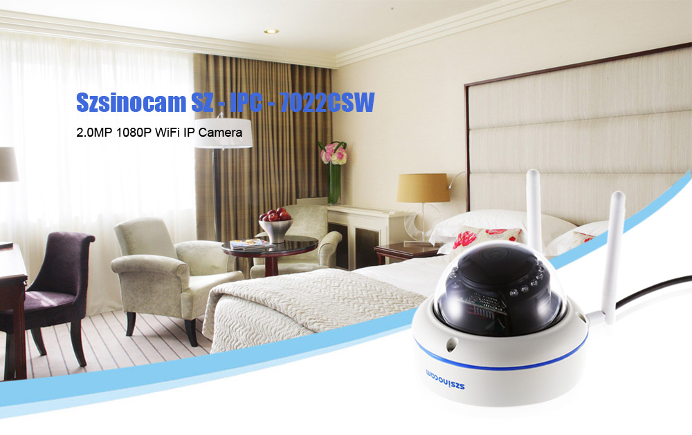 Szsinocam SZ - IPC - 7022CSW WiFi IP Camera Security System 2.0MP 1080P Motion Detection