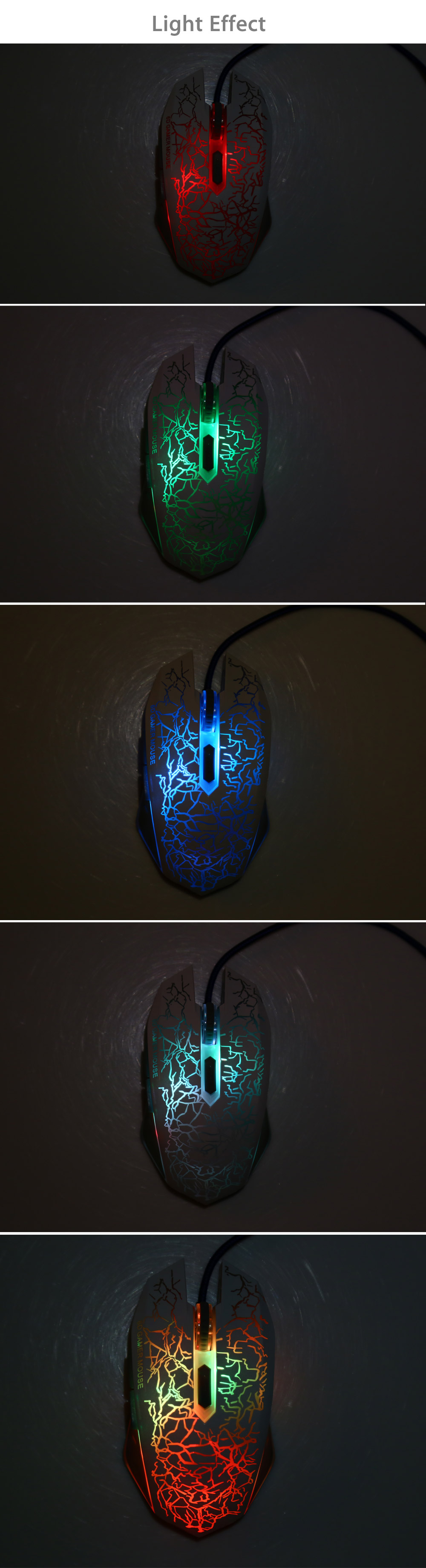 6D USB Wired Gaming Mouse with Optical Sensor