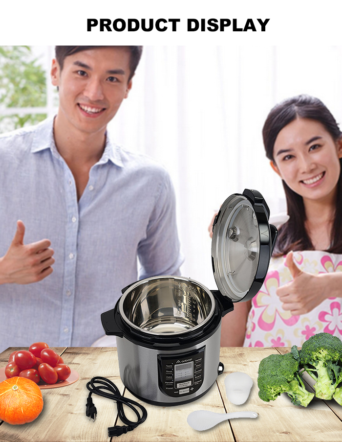aobosi YBW60 - 100P1 6L Electric Digital Pressure Cooker Non-Stick Cooking Pot US-SC Warehouse