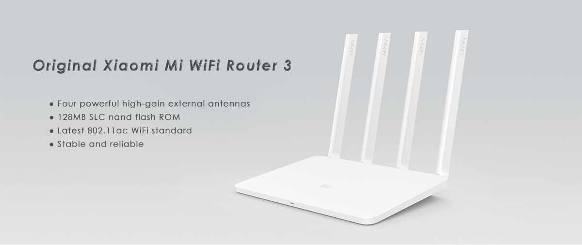 Original English Version Xiaomi Mi WiFi Router 3 - $32.99 Free ...