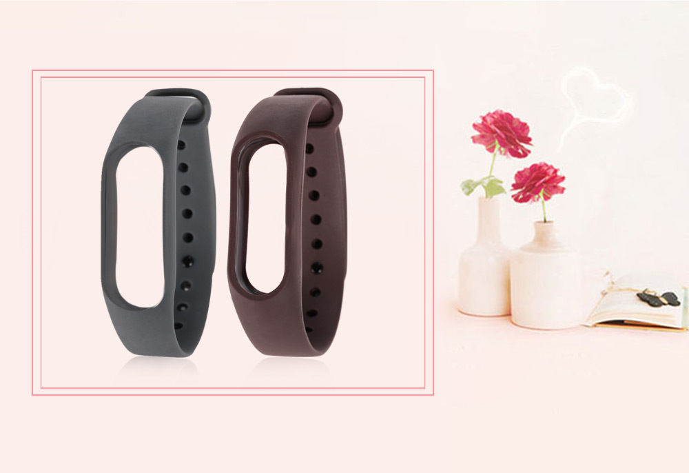 Pure Color TPU Watch Band for Xiaomi Miband 2
