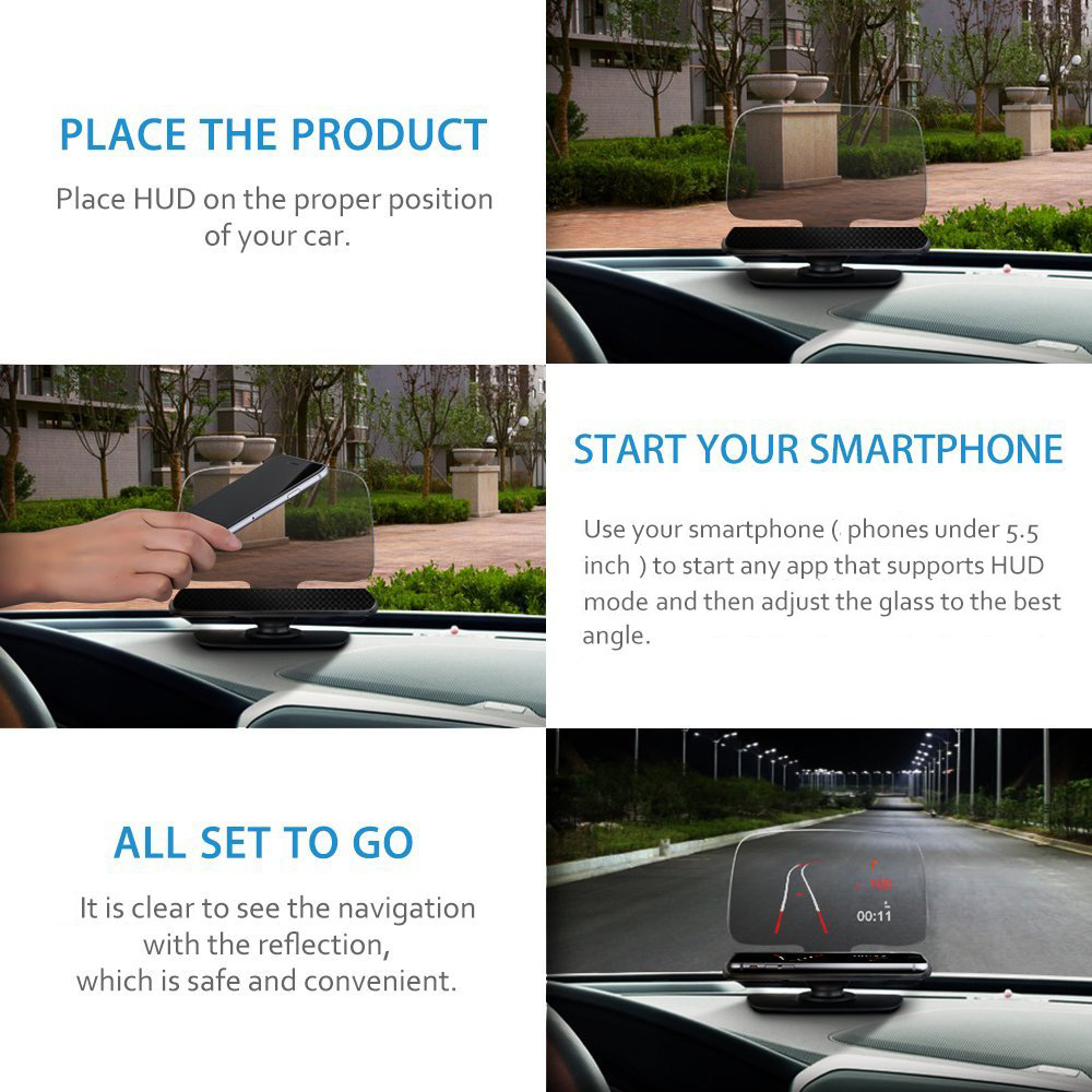 Mpow MHD1 7.8 inch Phones Head Up Display HUD for Car Vehicles