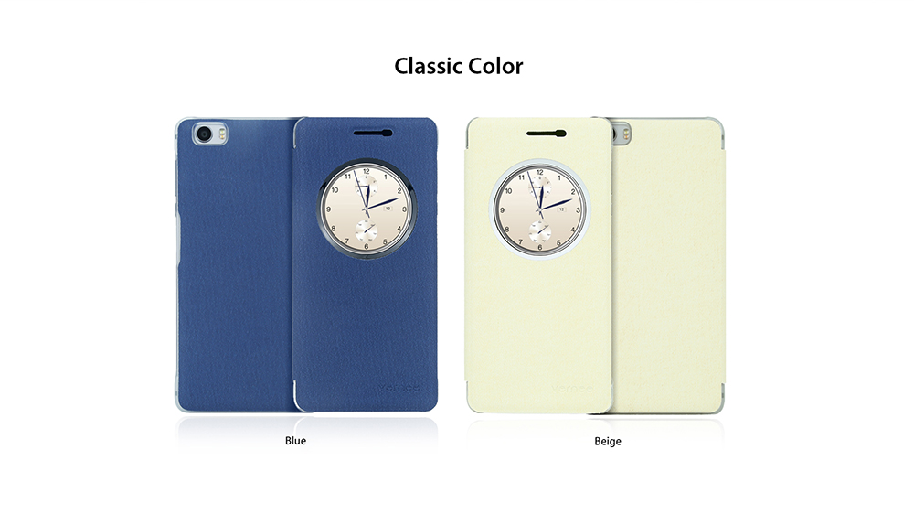 Original Vernee Denim Fabric Full Body Protective Case for Mars Matte Surface Auto Sleep / Wake-up Mobile Shell