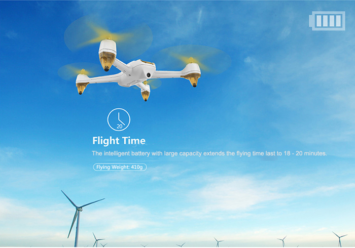 Hubsan H501S X4 5.8G FPV 10CH Brushless with 1080P HD Camera GPS RC Quadcopter - Advanced Version- White + Gold EU Plug