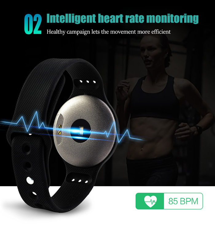 L9 Heart Rate Monitor Smart Wristband with Siri Sleep Track Calculator Alarm Stopwatch Calendar