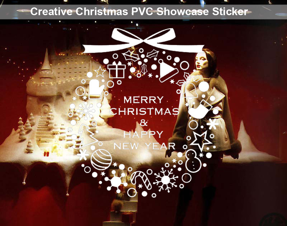Christmas Removable Showcase Sticker Wallpaper