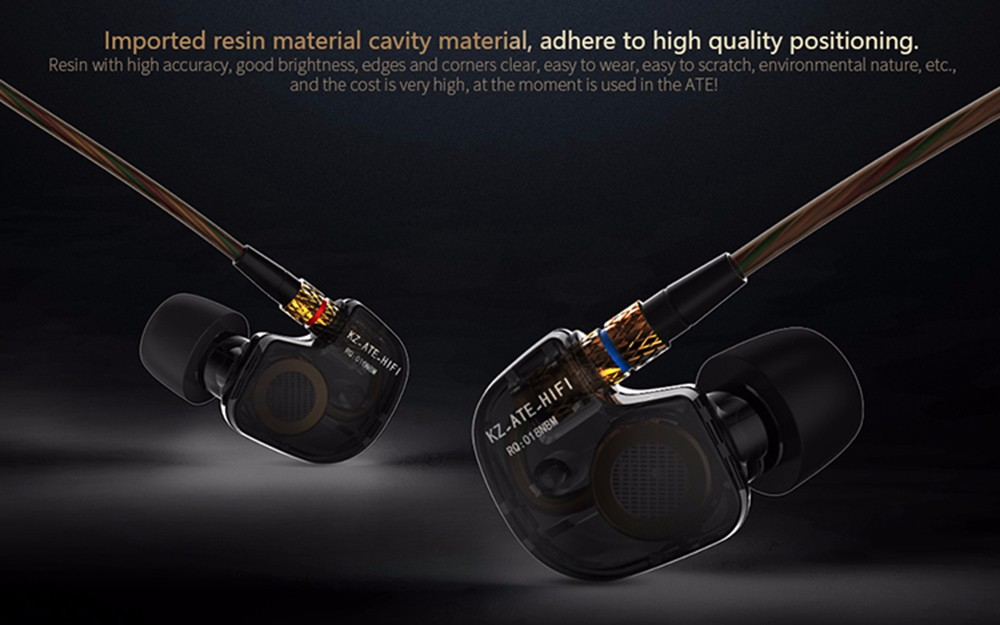 KZ-ATE 3.5mm In-Ear Earphones with Microphone HiFi Stereo Super Bass Sport Headset for iPhone / Samsung / MP3