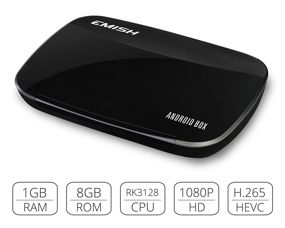 EMISH X700 Smart TV Box Android 4 4 OS