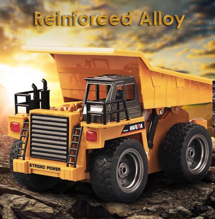 HUINA 1540 1:18 2.4G 6CH RC Alloy Dump Truck Auto Demonstration Function