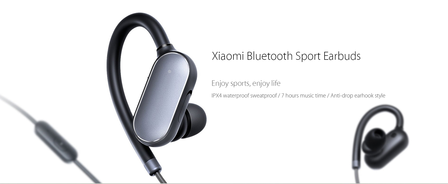Xiaomi YDLYEJ01LM Bluetooth 4.1 Music Sport Earbuds Support Hands-free Calls Volume Control Song Switch- Black