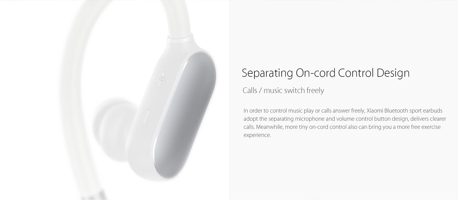 Xiaomi Bluetooth 4.1 Music Sport Earbuds Support Hands-free Calls Volume Control Song Switch