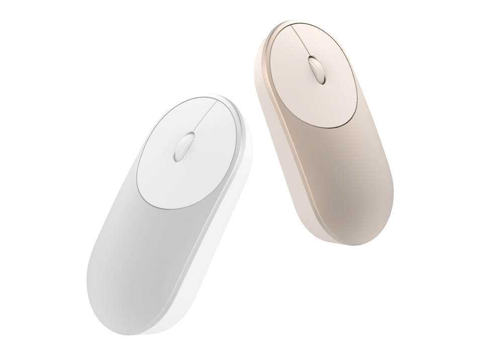 Original Xiaomi Portable Mouse with Bluetooth 4.0 / 2.4G Dual Mode- Silver