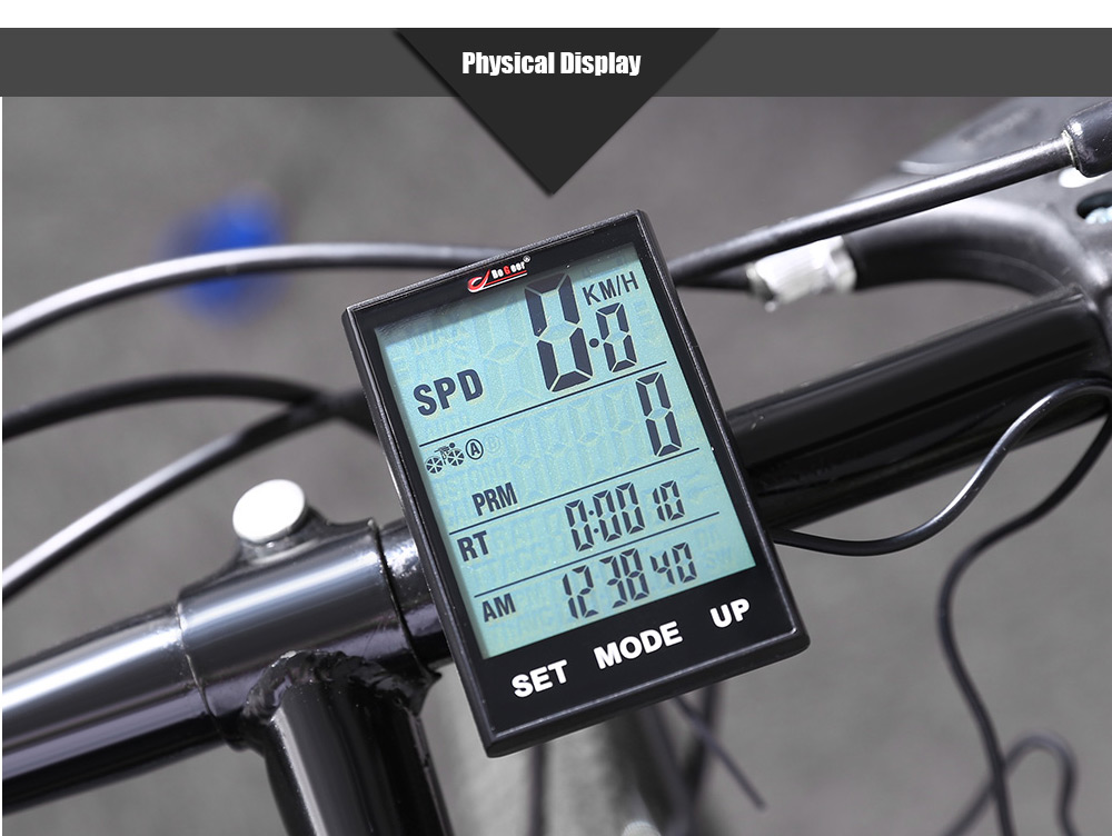 BoGeer YT - 318 Water Resistant Multifunctional Wired Bike Computer Touchscreen Cycling Odometer