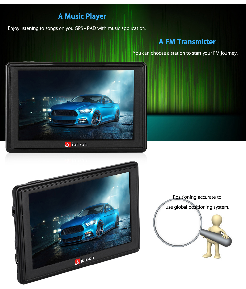 Junsun d200 5 0 inch gps navigation system for car vehicles
