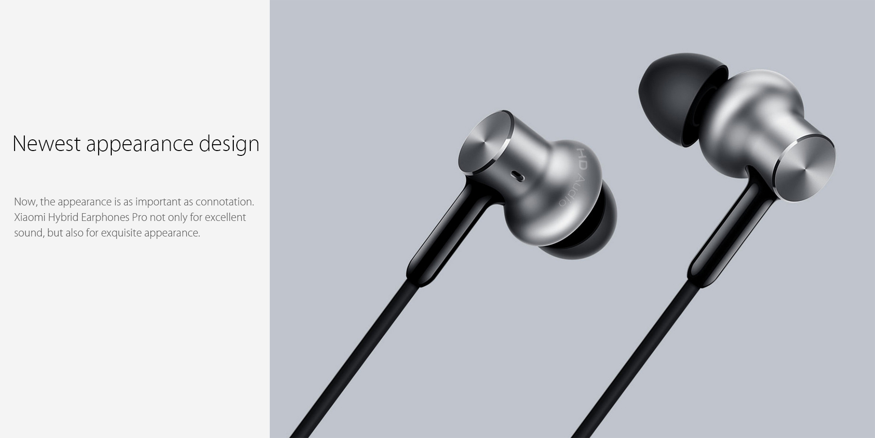 Original Xiaomi In-ear Hybird Earphones Pro Dynamic Balanced Armature Driver Volume Control