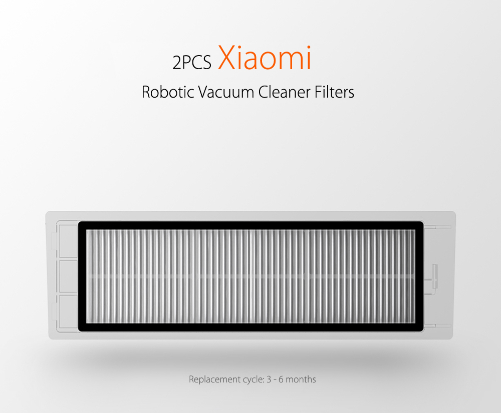 Robotic Vacuum Cleaner Filter For Xiaomi 1823 Free Shipping Bundle 2 Pcs Steam Wallet Idr 400000 Cleaning Machine Accessories White