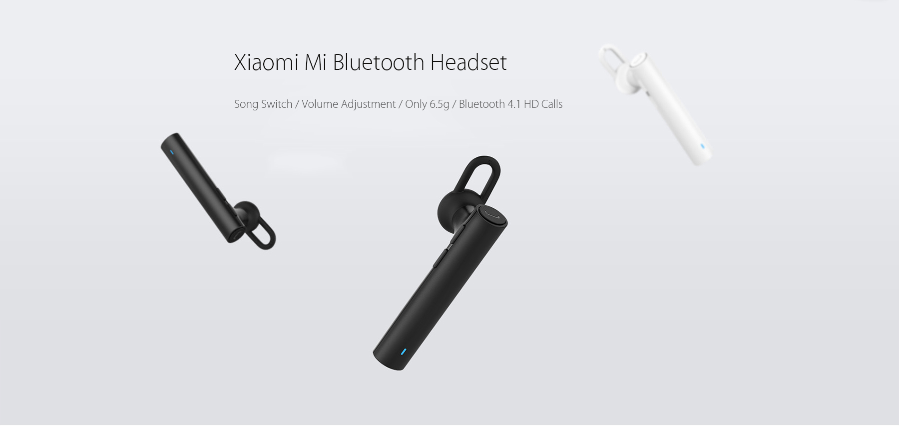 Original Xiaomi Mi LYEJ02LM Bluetooth Headset Built-in Mic Multifunctional On-cord Control