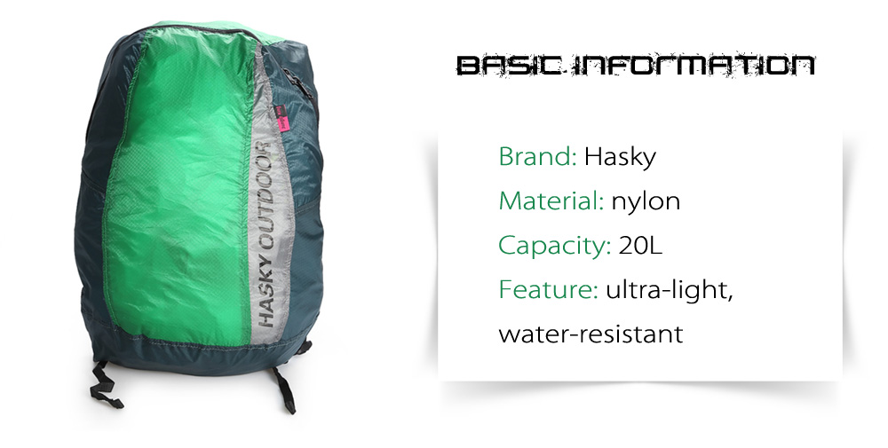 Hasky 2492 Portable Ultra-light Nylon 20L Backpack
