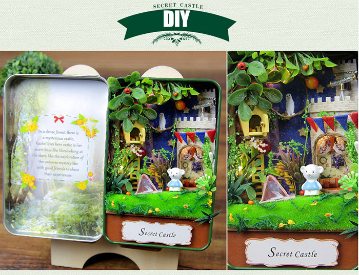 Creative Room Design DIY Miniature Box Idea Art Handicraft Gift with Furniture