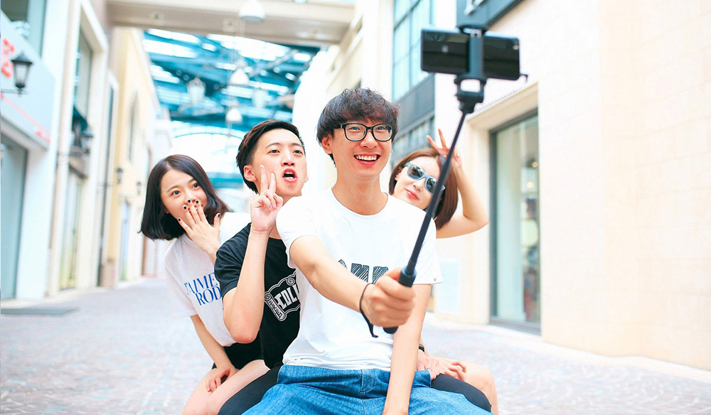Original Xiaomi Wire Control Selfie Stick Monopod Camera Shutter 270 Degree Rotation